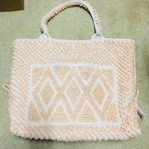 Handbags - 👜 Beautiful Cloth Crochet Tote 👜